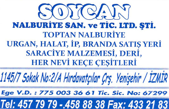 SOYCAN NALBURİYE SAN. VE TİC. LTD. ŞTİ.